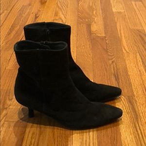 Stuart Weitzman Black Suede Boots Sz 8